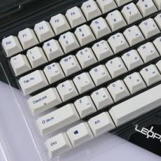 레오폴드 PBT 염료승화 키캡셋트 화이트 한글